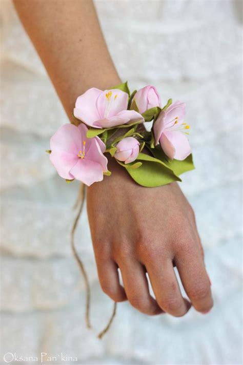 bridal flower bangles apple blossom wedding flower