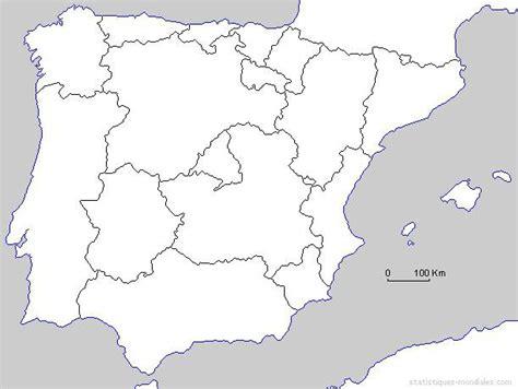 Carte De Avec Region Vierge by Carte De L Espagne D 233 Couvrrir L Espagne Sous Forme De Carte