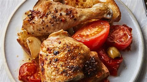 what to do with chicken one dish baked chicken with tomatoes and olives recipe bon appetit