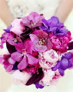 Pink and Purple Orchid Wedding Bouquet