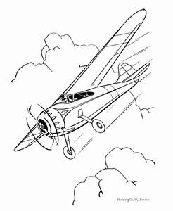Coloring Pages for Kids: Airplane Coloring Pages