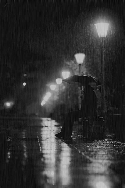 Rain Night Rainy Animated Gifs Relaxing Walking