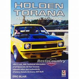 Holden Torana Performance Handbook Lc Lj Lh Lx Gtr Xu1 Sl  R A9x Manual