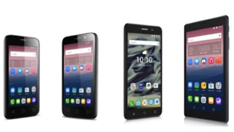 alcatel pixi 4 lineup includes smartphones phablet and tablet goploy