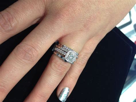 stacked mismatched wedding bands love fashion