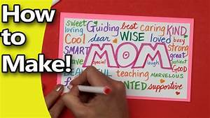 How to Make a Mothers Day Card for Mom 2016 edition! DIY ...
