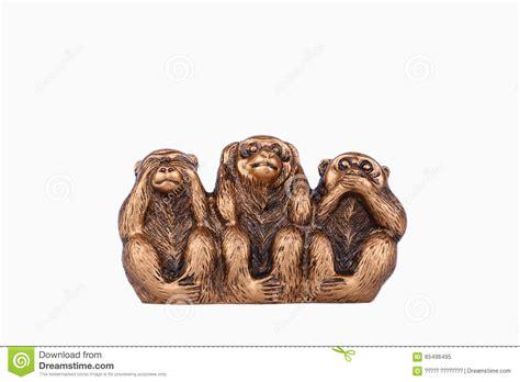 three wise monkeys on a white background stock 65496495