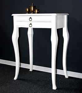 Barock Möbel Weiß : massivholz beistelltisch konsolentisch wandtisch holz massiv wei ~ Markanthonyermac.com Haus und Dekorationen