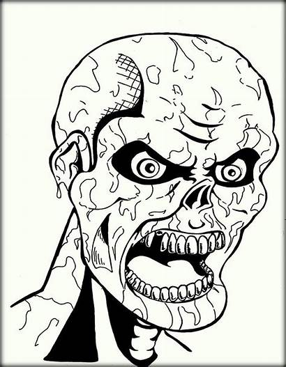 Scary Coloring Halloween Printable Adults Colouring Whitesbelfast