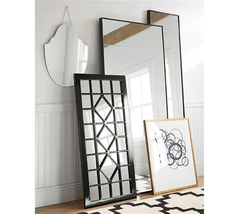 floor mirror narrow berke narrow floor mirror pottery barn