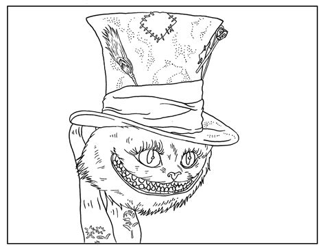 8 tim burton adult coloring book pages printables