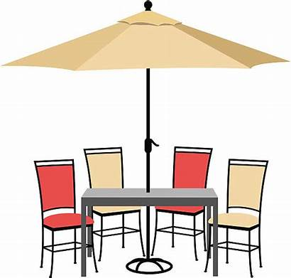 Patio Clipart Furniture Vector Chair Outdoor Table