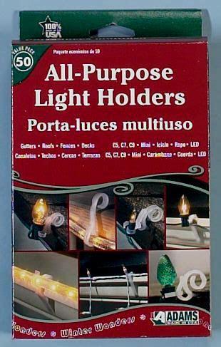 all purpose christmas light holders