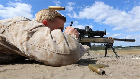 Scout Snipers Perform Machine Gun, Sniper Rifle Exercise