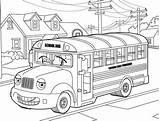 Coloring Neighborhood Bus Mr Hilarious sketch template