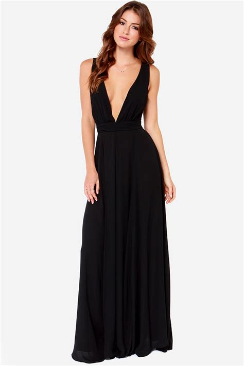 sleeveless evening gown beautiful black dress maxi dress black gown 108 00