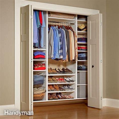 build   melamine closet organizer  family handyman