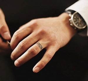 mens wedding ring tattoos designs With wedding ring tattoos male