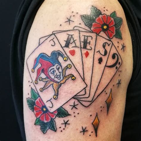 playing cards  dice tattoos