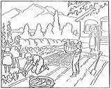 Agriculture Coloring Drawing Agricultural Harvest History Drawings Mormon Children Getdrawings 1923 Growth November Modern Machinery sketch template