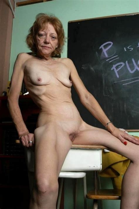 Nasty Old School Teacher Gets Down And Dirty In The