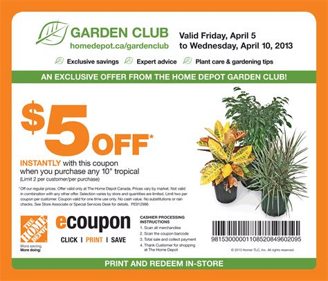 home depot canada garden club coupon print coupon king
