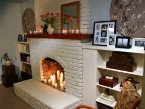 Painted Brick Fireplace Decorating Ideas