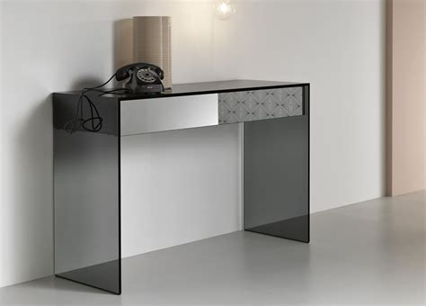 Contemporary Console Tables by Tonelli Gotham Console Table Contemporary Glass Console