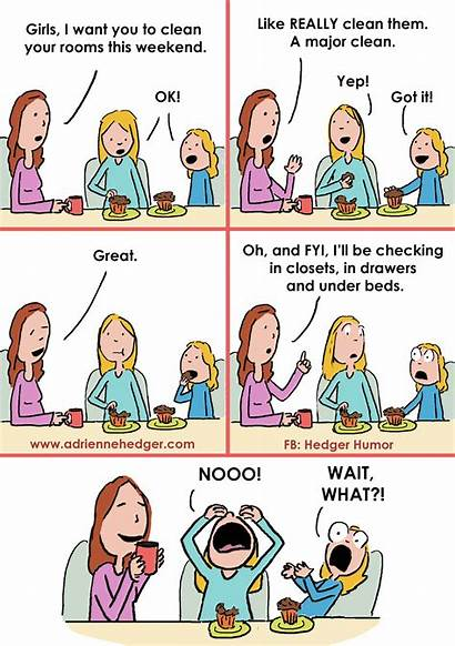 Mom Humor Cartoons Hedger Parenting Funny Married