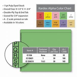 Poly Medical Chart Dividers Kardex File Folders 2610003r Alpha Scale Colorscan