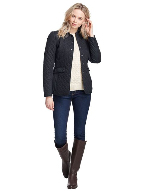 quilted jacket womens shaw womens quilted jacket equestrian style jacket
