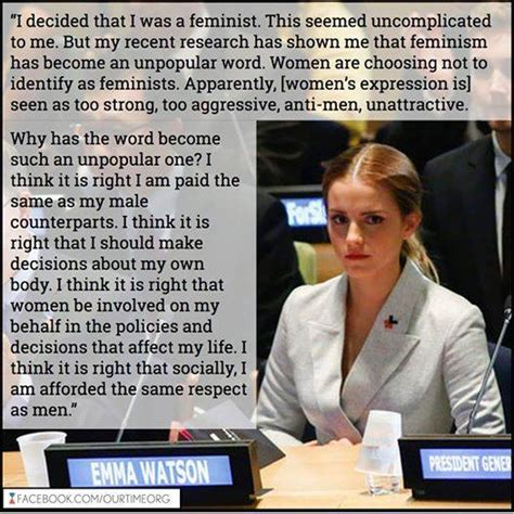 political meme   day emma watson feminism quote