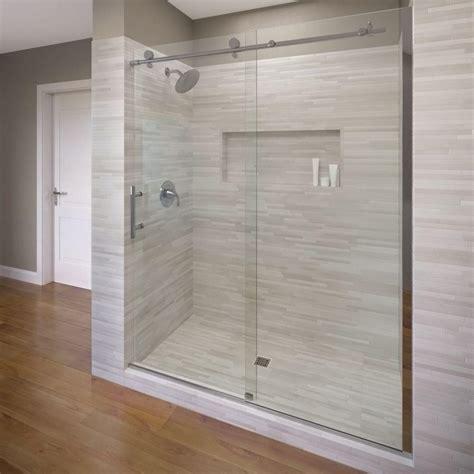 basco shower door basco vinesse 59 in x 76 in semi framed sliding shower