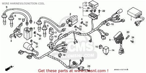 honda vfr400r3 1990 l england wire harness ignition coil schematic partsfiche