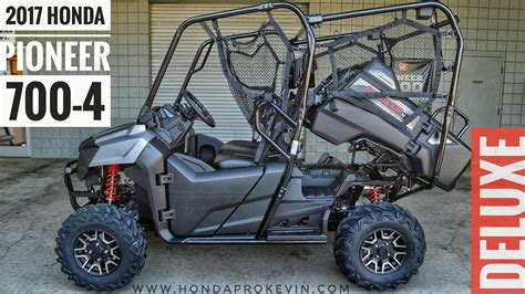 2017 Honda Pioneer 700-4 Deluxe Walk-around Video