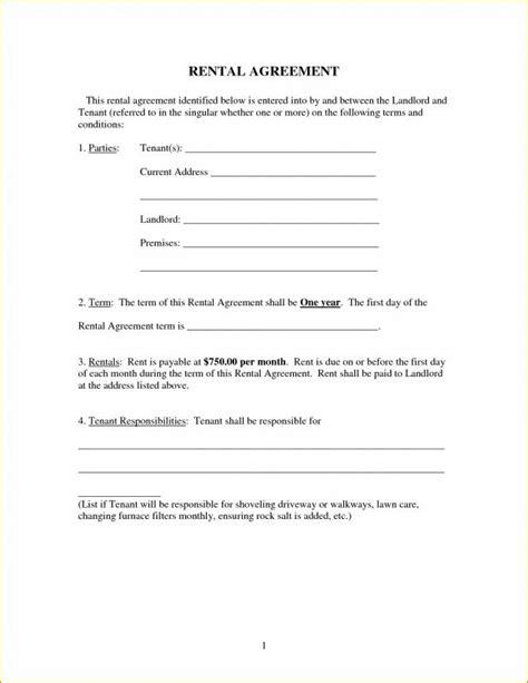 Simple Printable Lease Agreement