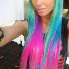 bright blue hair Tumblr Neon Strands Pinterest