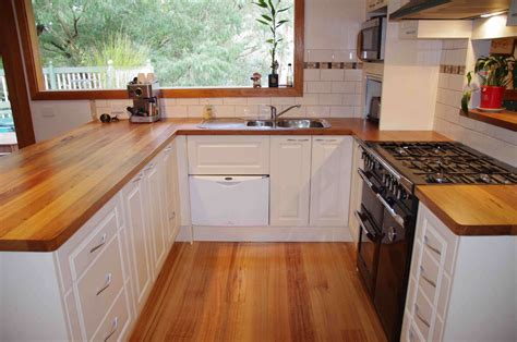 Table Island Kitchen - timber kitchen benchtops brisbane buywood furniture
