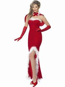 Déguisement Mère Noel Femme : robe m re noel chic d guisement glamour m re noel ~ Melissatoandfro.com Idées de Décoration