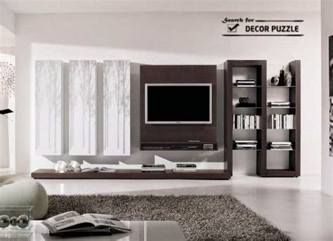 cool modern tv wall units  unique living room designs