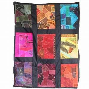 Tete De Lit Indienne : patchwork 9 cases artisanat du rajasthan ~ Teatrodelosmanantiales.com Idées de Décoration