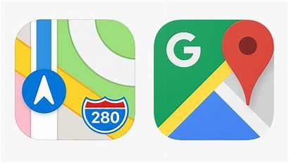 Maps Google Apple App Iphone Map Compare