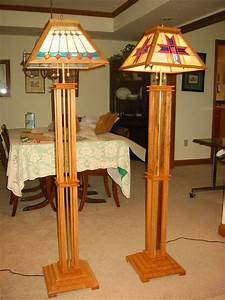 mission style floor lamps by ampeater lumberjockscom With free wood floor lamp plans