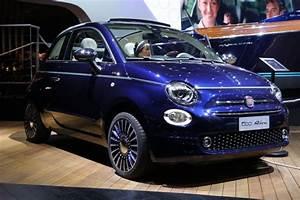 Fiat 500 Bleu Marine : en direct du mondial de l 39 auto fiat 500 riva ~ Medecine-chirurgie-esthetiques.com Avis de Voitures