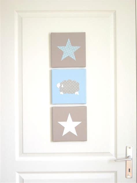 deco chambre etoile tableau triptyque pour chambre d 39 enfant mouton étoiles