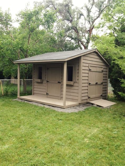 classic shed   foot side porch shed plans
