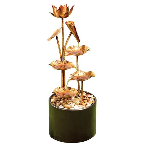70cm morning dew copper effect cascading water feature 163 149 99