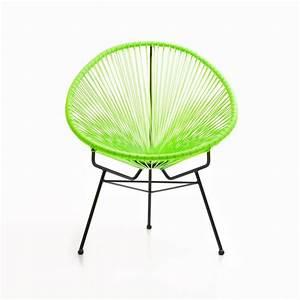 Fauteuil De Jardin Rond : fauteuil de jardin majorque en r sine tress e ronde vert ~ Teatrodelosmanantiales.com Idées de Décoration
