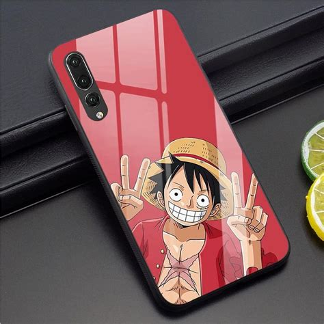 anime  piece tempered glass phone case  huawei p