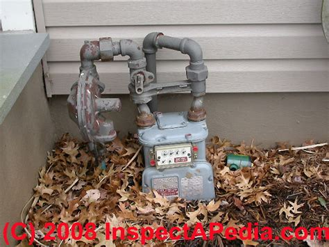 gas meter gas pipe clearance distance codes specifications